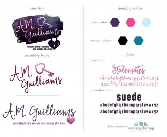 Author Branding Logos Cover Me, Darling